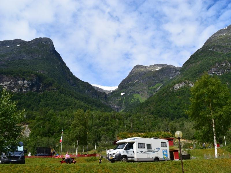 Gryta Camping bij de Briksdalgletsjer in Olden 2016 3