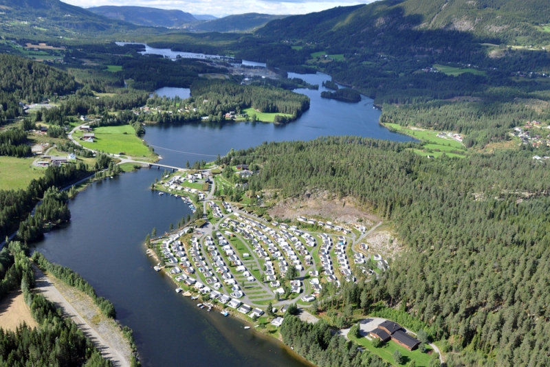 Aurdal Fjordcamping Luchtfoto 2015