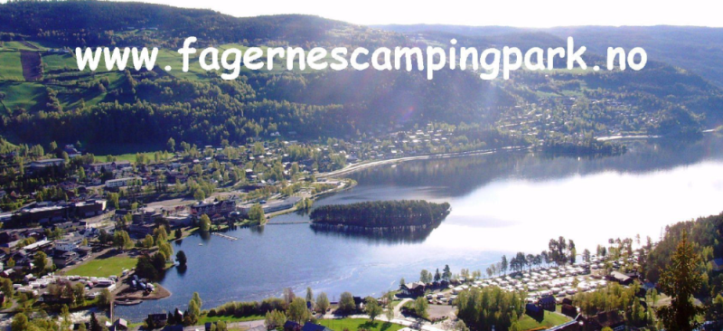 Fagernes Camping Park Luchtfoto 2015