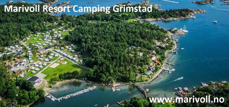 Marivoll Resort Grimstad Luchtfoto